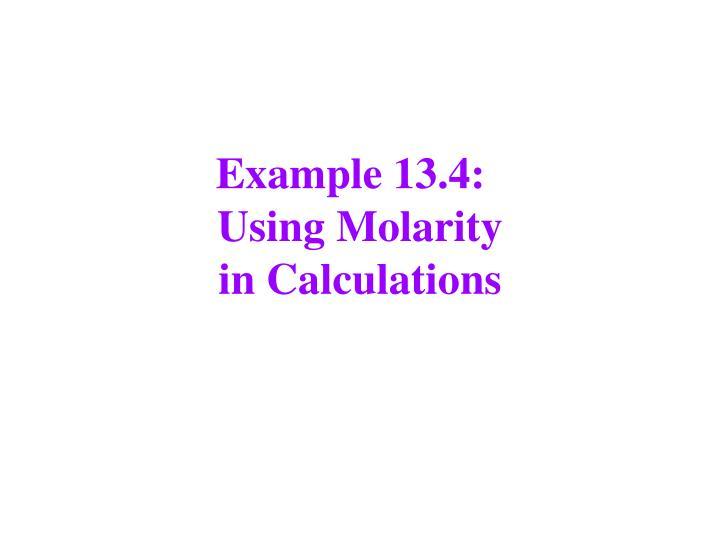 Example 13.4: