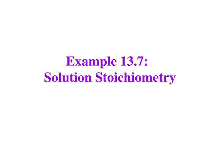 Example 13.7: