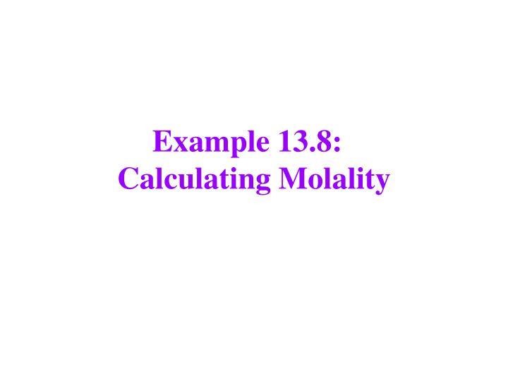 Example 13.8: