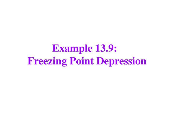 Example 13.9:
