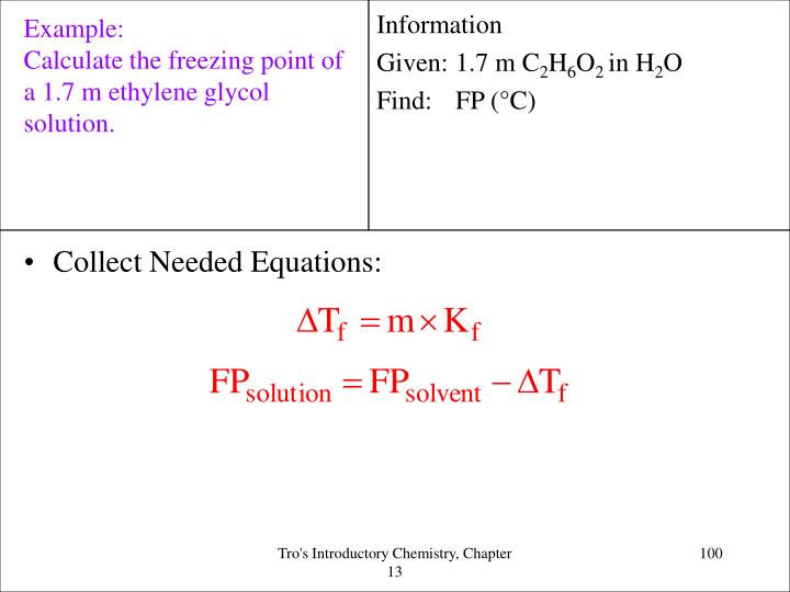 Collect Needed Equations: