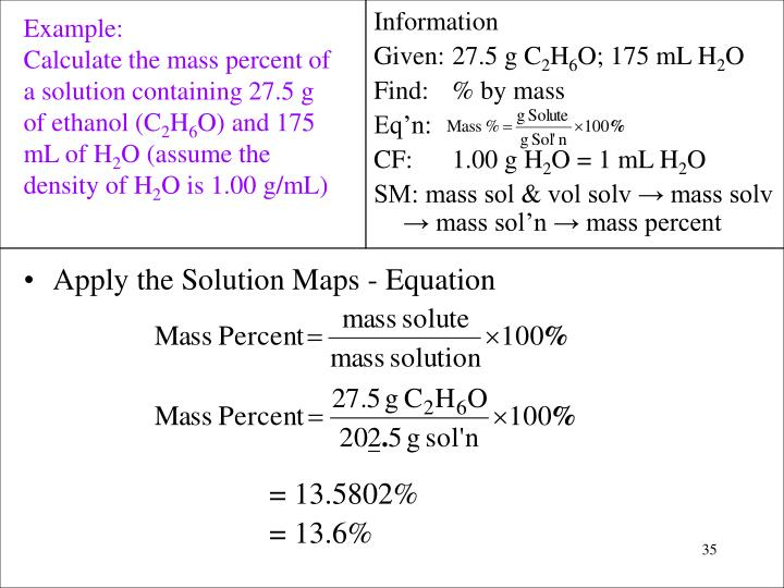 Apply the Solution Maps - Equation