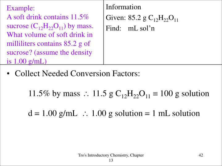 Collect Needed Conversion Factors: