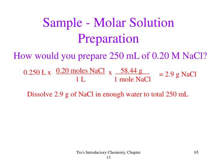 0.20 moles NaCl