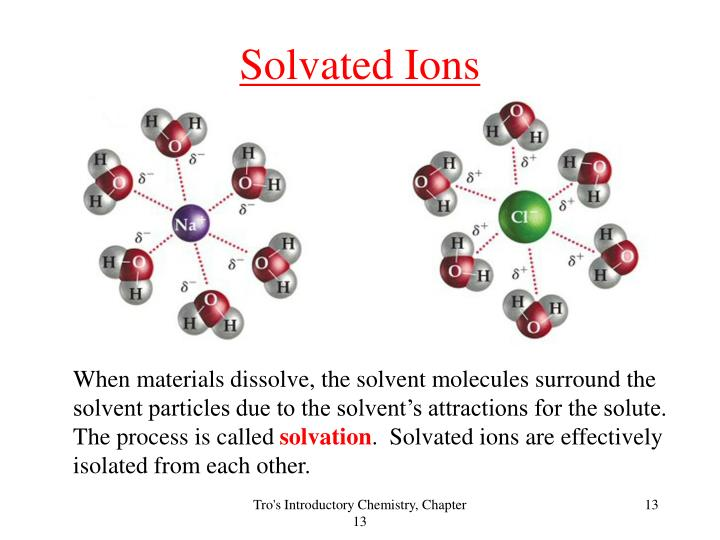 Solvated Ions