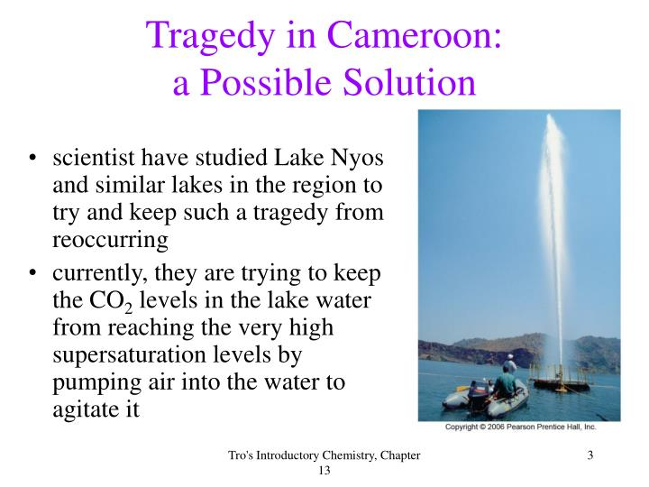 Tragedy in cameroon a possible solution
