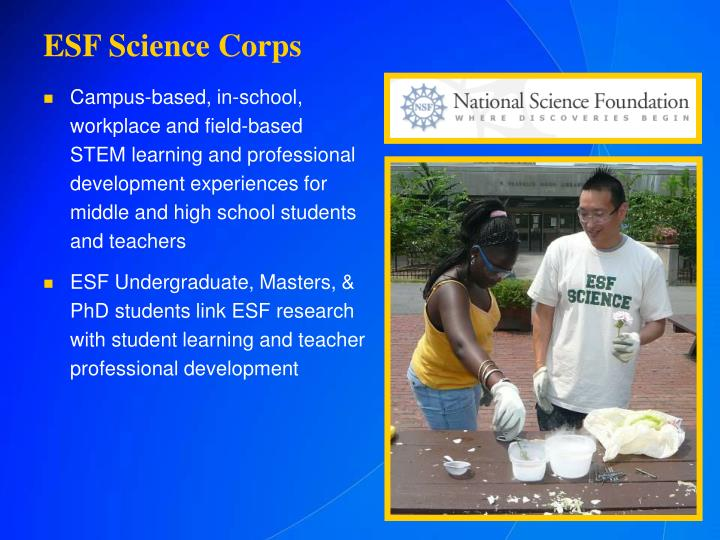 ESF Science Corps