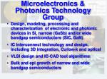 microelectronics photonics technology group