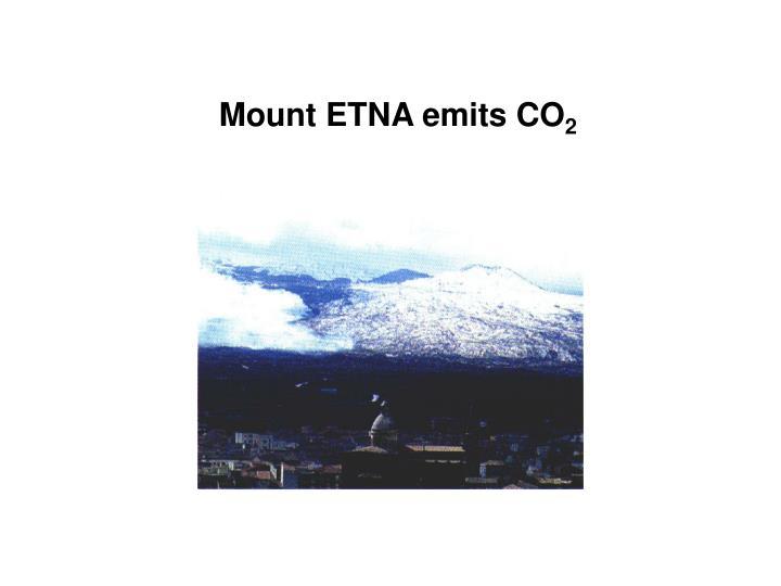 Mount ETNA emits CO