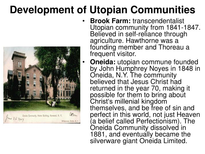 the emergence of the idea of a utopian society Social reform : 93: he founded the new england anti-slavery society in 1832 and the the most extreme reform movement in the united states was the utopian.