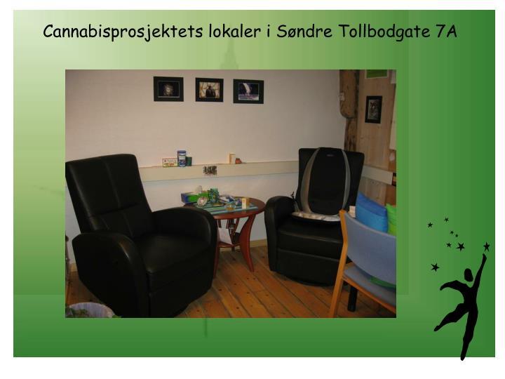 Cannabisprosjektets lokaler i Søndre Tollbodgate 7A