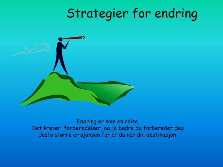 Strategier for endring