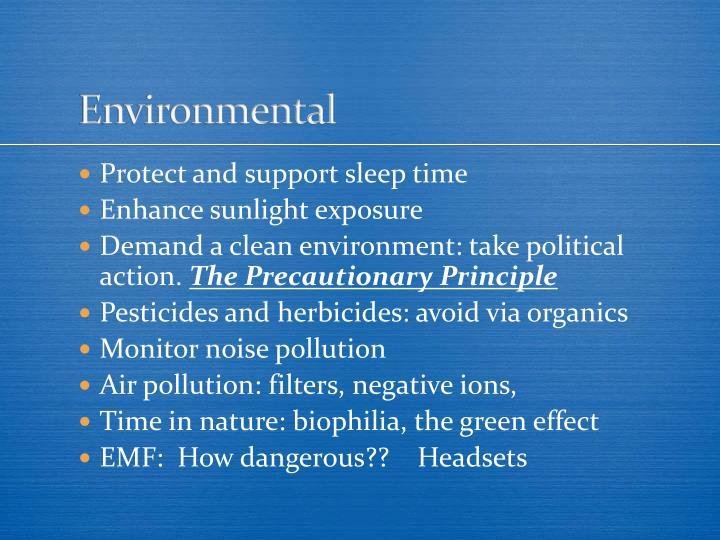 Environmental