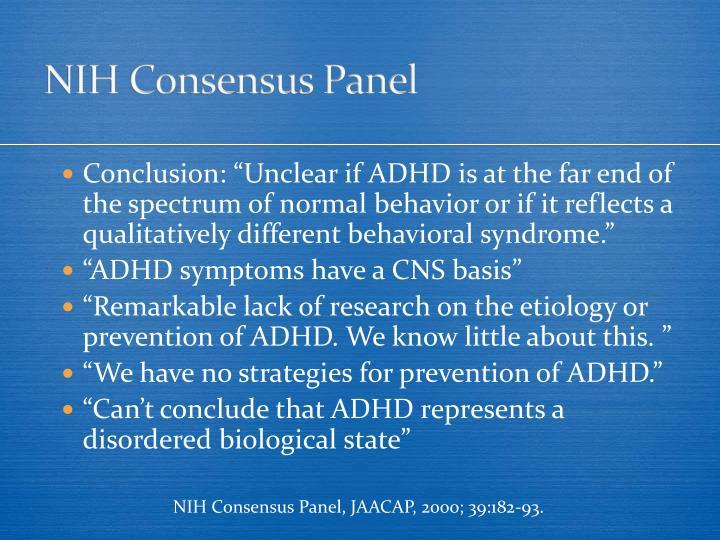 NIH Consensus Panel