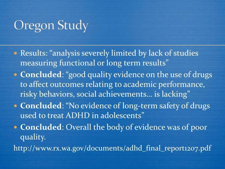 Oregon Study