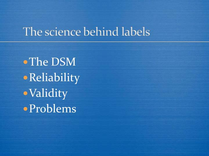 The science behind labels