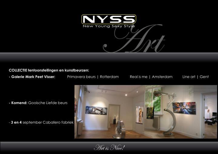 COLLECTIE tentoonstellingen en kunstbeurzen: