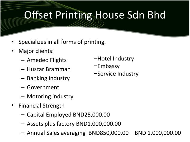 Offset Printing House Sdn Bhd