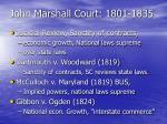 john marshall court 1801 1835
