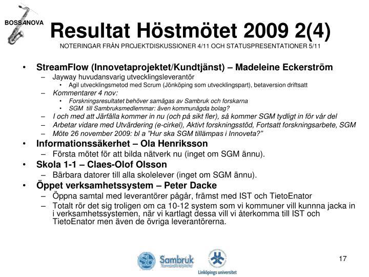 Resultat Höstmötet 2009 2(4)