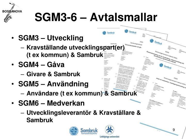 SGM3-6 – Avtalsmallar