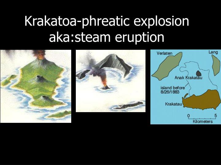 Krakatoa-phreatic explosion