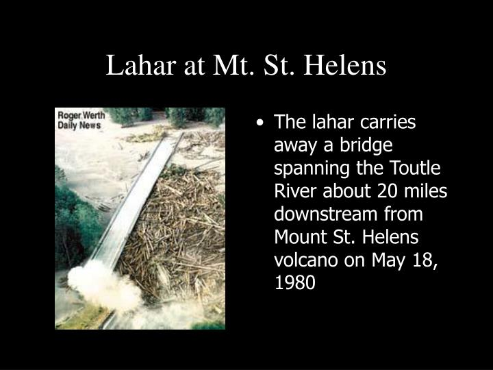 Lahar at Mt. St. Helens