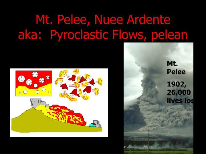 Mt. Pelee, Nuee Ardente