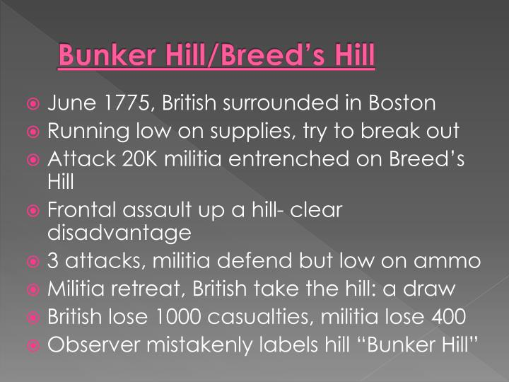 Bunker Hill/Breed's Hill