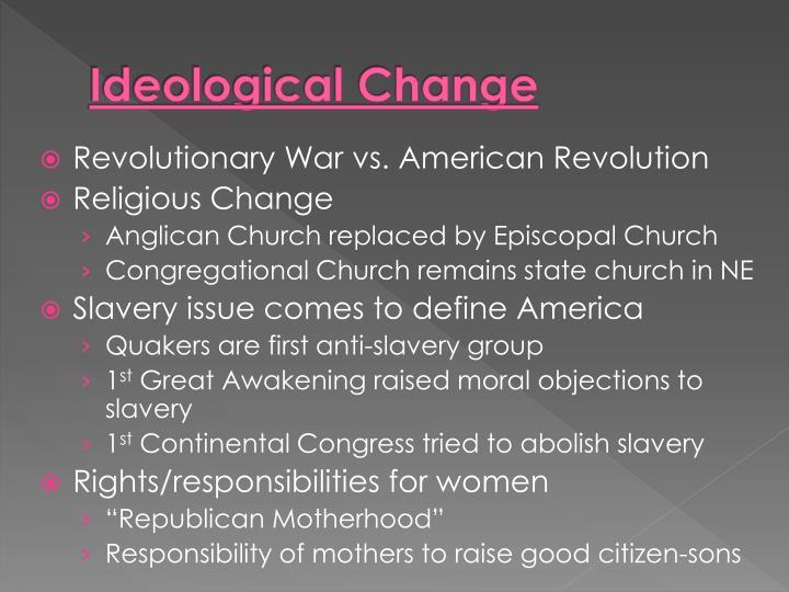 Ideological Change