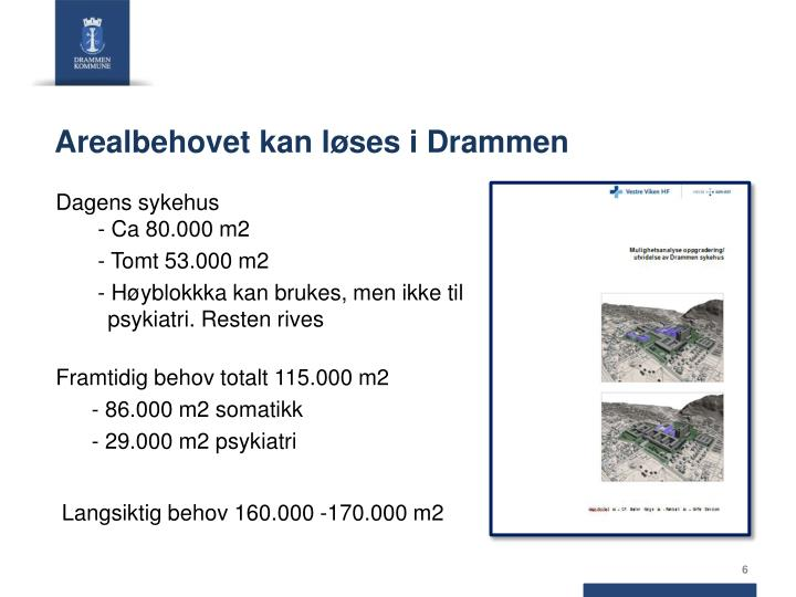 Arealbehovet kan løses i Drammen