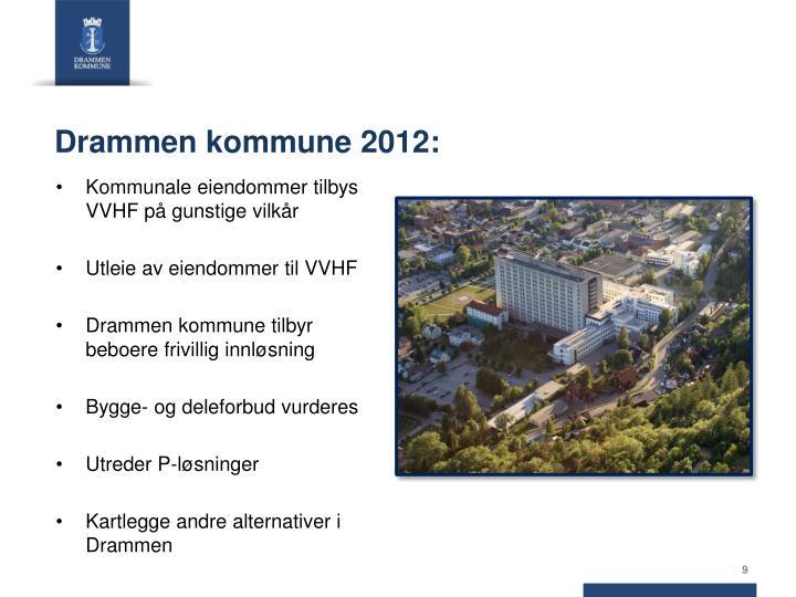 Drammen kommune 2012: