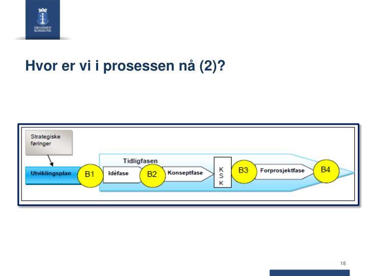 Hvor er vi i prosessen nå (2)?