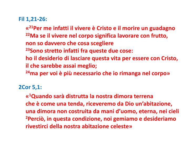 Fil 1,21-26: