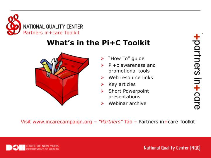 Partners in+care Toolkit
