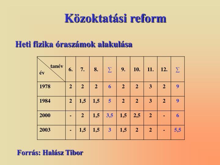 Közoktatási reform