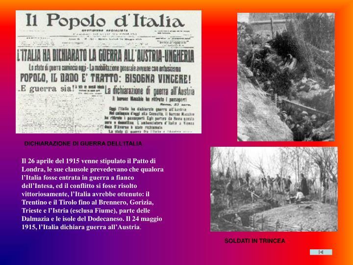 Dichiarazione guerra Italia
