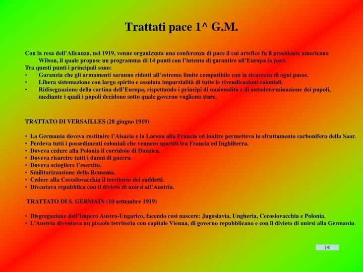 Trattati pace 1^ G.M.