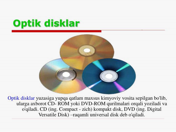 Optik disklar