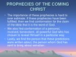 prophecies of the coming christ