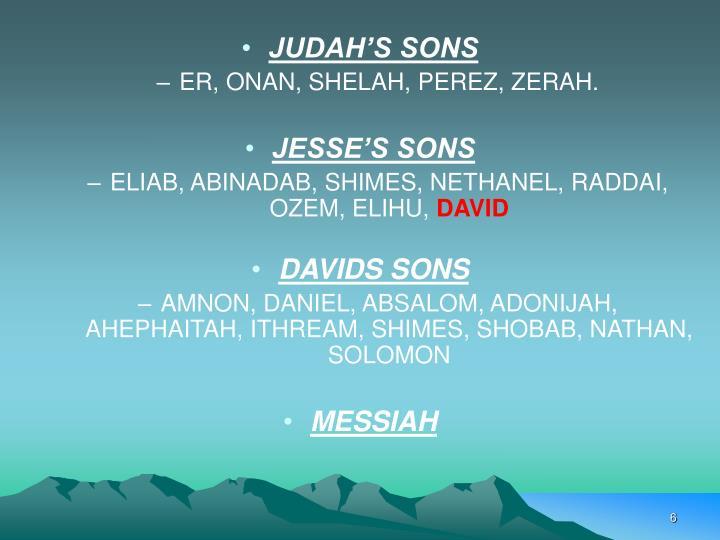 JUDAH'S SONS