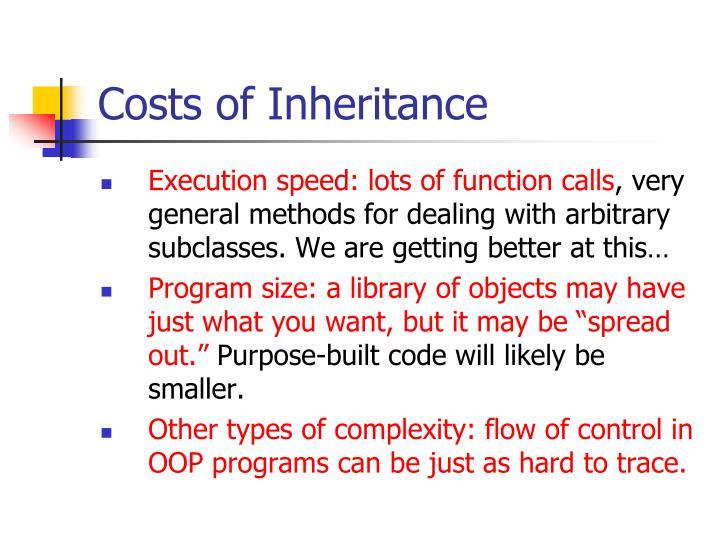Costs of Inheritance