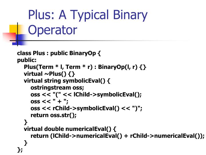 Plus: A Typical Binary Operator