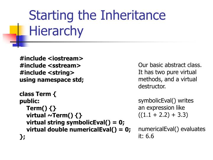 Starting the Inheritance Hierarchy