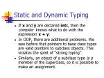 static and dynamic typing1