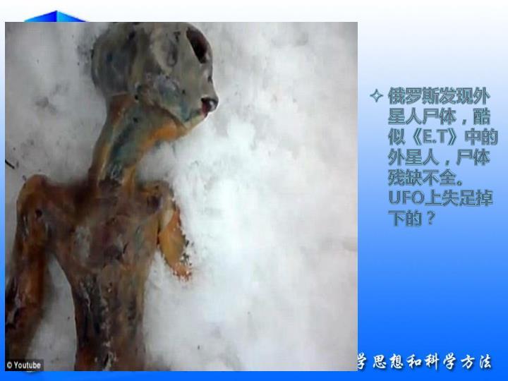 俄罗斯发现外星人尸体,酷似