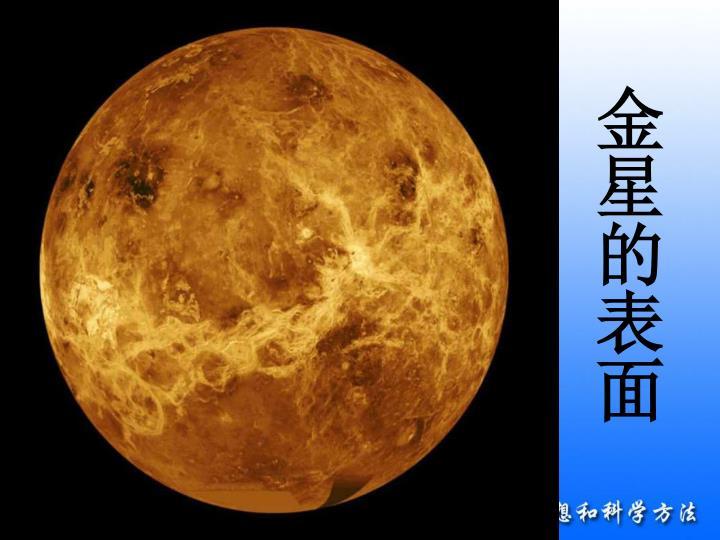金星的表面