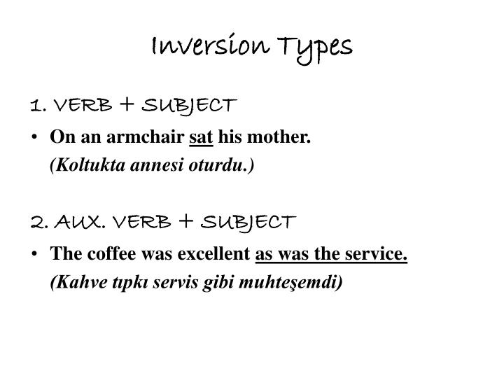 Inversion Types