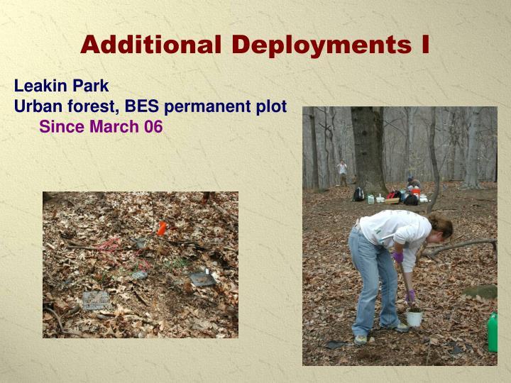 Additional Deployments I