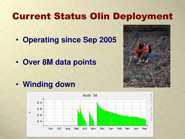 Current Status Olin Deployment